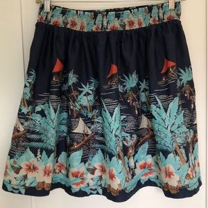 Tommy Hilfiger Hawaiian Print Skirt
